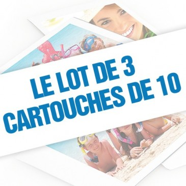 Lot de 3 cartouches de 10 photos