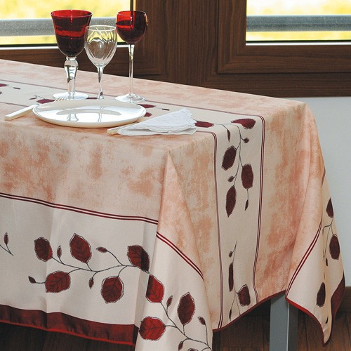 sedao vente art de la table d co nappe anti taches automne rectangulaire. Black Bedroom Furniture Sets. Home Design Ideas