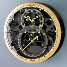 "HORLOGE SKELETON ""BLACK & GOLD"""