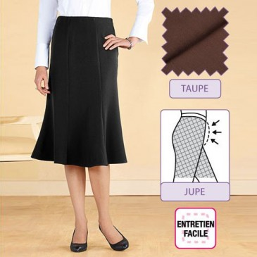 """JUPE """"SILHOUETTE"""" TAUPE"""