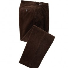 PANTALON VELOURS TOUT CONFORT MARRON
