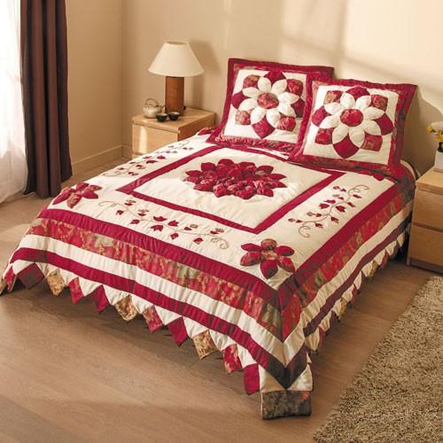 sedao vente linge de maison couvre lit fleurs d automne. Black Bedroom Furniture Sets. Home Design Ideas