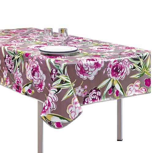 sedao vente arts de la table toile cir e pivoines rectangulaire. Black Bedroom Furniture Sets. Home Design Ideas