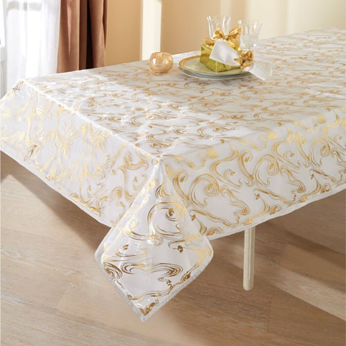 NAPPE ORGANZA OR & ARGENT