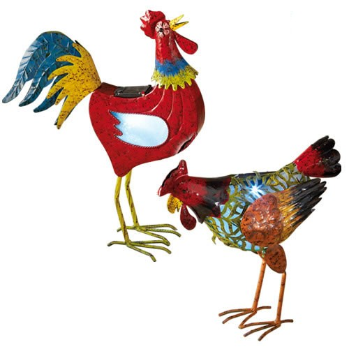 Sedao vente jardinage ext rieur animaux duo poule for Poule decoration exterieur