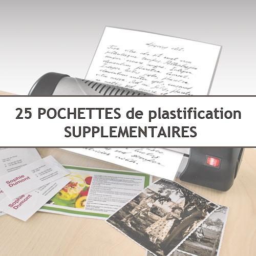 25 pochettes de plastification A4 supplémentaires