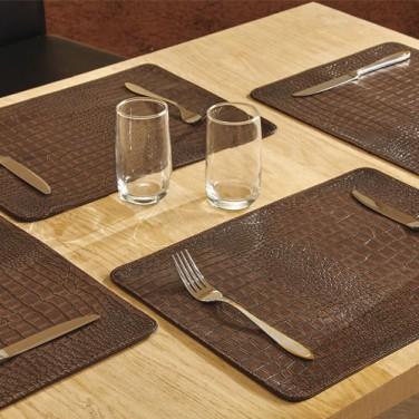 "LES 4 SETS DE TABLE""CROCO"""