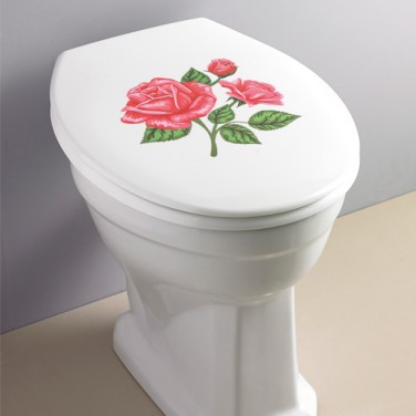 "ABATTANT WC ""ROSES"""