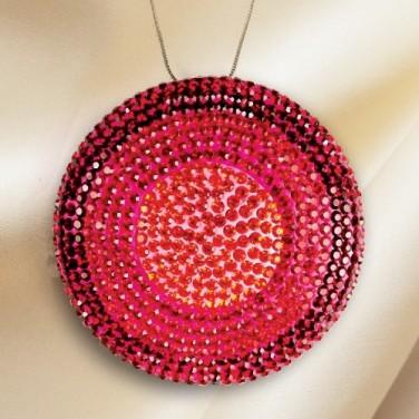 Collier médaillon de cristal