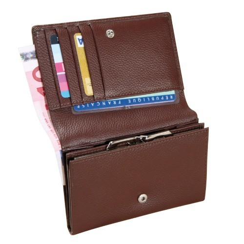 Porte-monnaie cuir organiseur