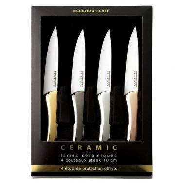 Coffret 4 couteaux céramique Prestige