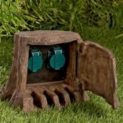 Multiprise de jardin  «trompe l'œil»