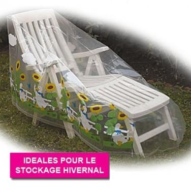 """Housses pour 4 fauteuils empilés """"Tournesols"""" - les 2"""