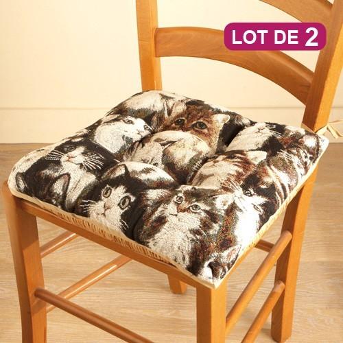 Coussins de chaise Mistigri - les 2