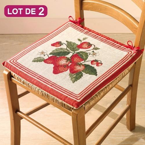Galette de chaises «fraises d'été» - les 2