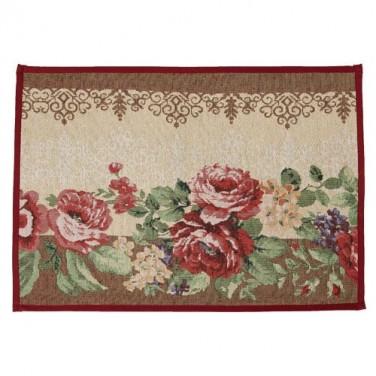 sedao vente d coration petit tapis roses anciennes. Black Bedroom Furniture Sets. Home Design Ideas