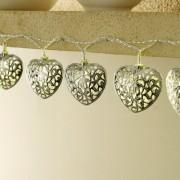 Guirlande solaire «cœurs»