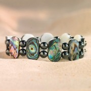 Bracelet magnétique abalone
