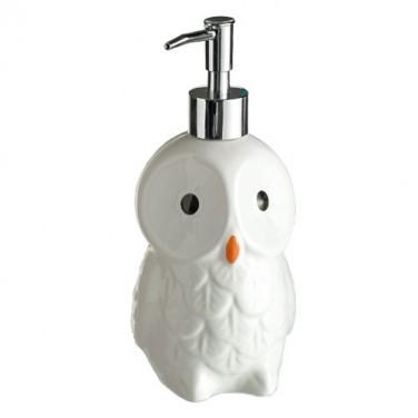 Distributeur savon de «Chouette des neiges»
