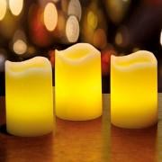 Bougies LEDs en cire - les 3
