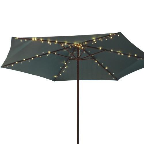 Guirlande solaire pour parasol