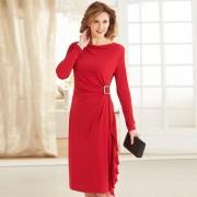 Robe drapée Carmina Rouge