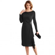 Robe drapée Carmina Noir