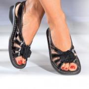 Sandales cuir verni PediGirl® Noir