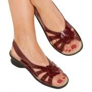 Sandales cuir verni PediGirl® Bordeaux