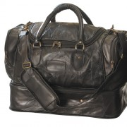 SAC WEEK-END CUIR D'AGNEAU