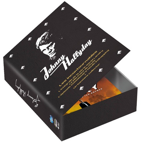 Coffret Collector Johnny Hallyday + 1 Bandana OFFERT – 4 DVD
