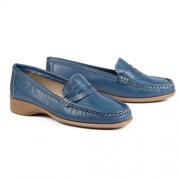 MOCASSINS CUIR ULTRASOUPLES BLEU
