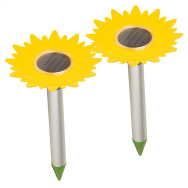 LES 2 CHASSE-TAUPES SOLAIRE TOURNESOL