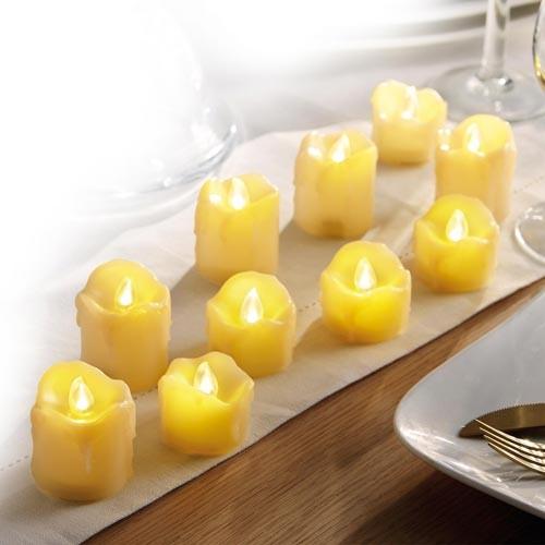 10 BOUGIES LED