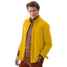 CHEMISE MICROPOLAIRE OCRE