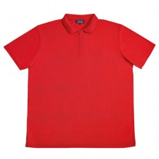 POLO ZIPPÉ CLIMSOFT ROUGE