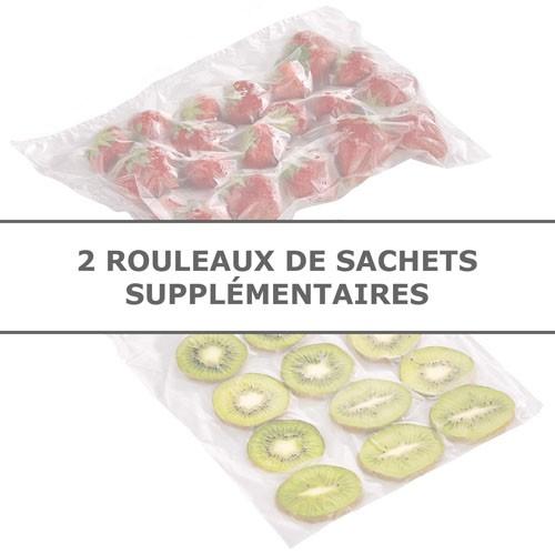 LES 2 ROULEAUX DE SACHETS SUPPLÉMENTAIRES