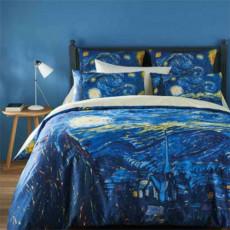 Housse de couette Van Gogh - Nuit étoilée BlanClarence®