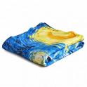 Plaid Van Gogh -  Nuit étoilée BlanClarence®