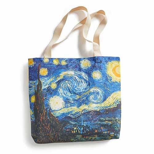 Sac shopping Van Gogh - Nuit étoilée BlanClarence®