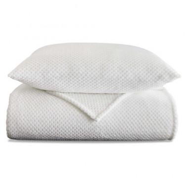 Jeté de lit et 2 taies blanc Caresse BlanClarence®
