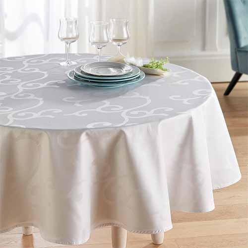 Nappe Arabesque ronde BlanClarence®