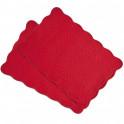 Sets de table rouge Châtelaine BlanClarence®