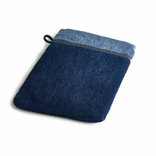 Gant de toilette bleu Ako BlanClarence®