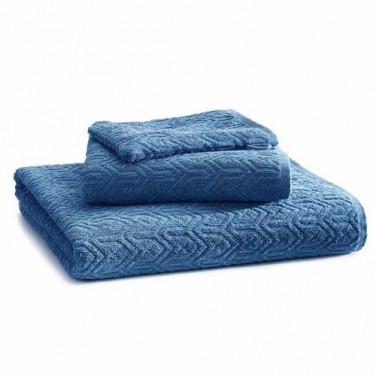 Parure de bain bleu denim Chevron BlanClarence®